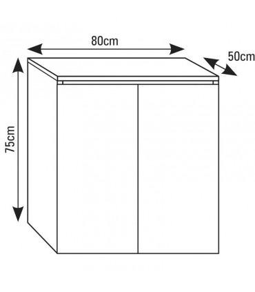 Mesa / Mueble para Acuarios 80 x 50 cm - AQUASCAPE PRO
